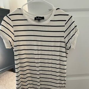 Black and white stripes Lulus dress